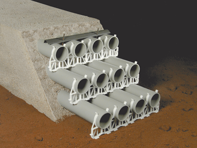wunpeece duct spacers underground devices
